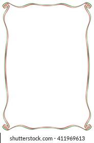 frame with Italian flag