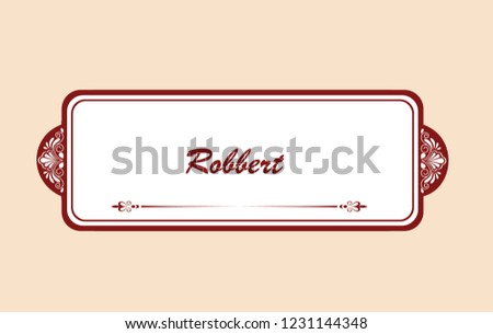 Frame Label Design Wedding Invitation Letter Stock Vector Royalty