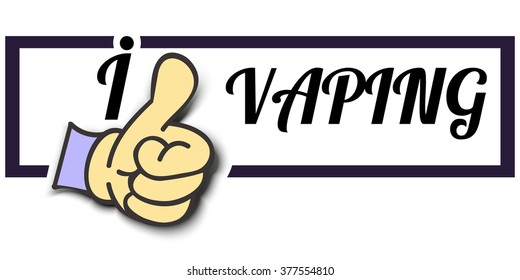 """Frame """" I Like VAPING """" Thumb Up! Vector graphic logo eps10."""
