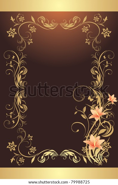 frame-lilies-pattern-design-decorative-6