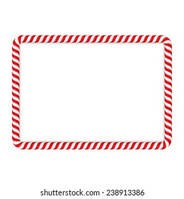 Frame made of candy cane, vector eps10 illustration