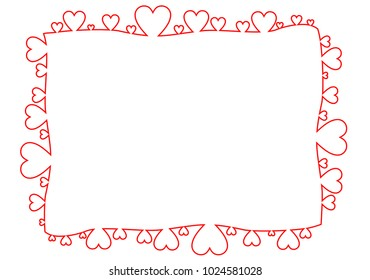 frame made of red hearts