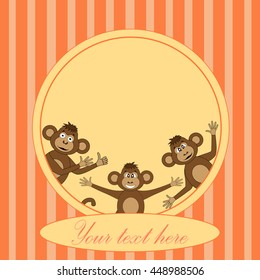 Frame with monkey EPS 10 in vector.