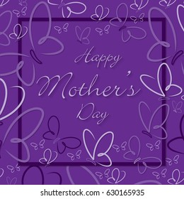 Frame Mother's Day butterfly card in format.