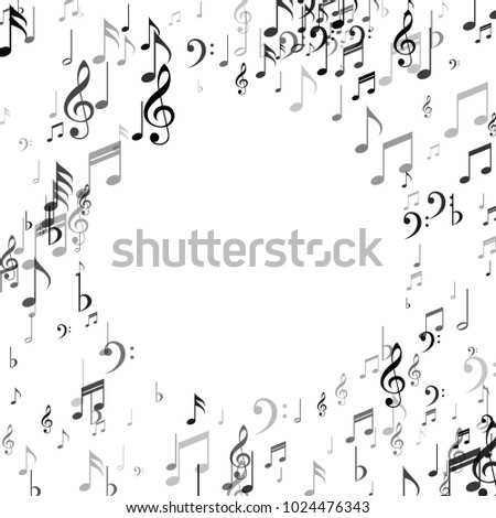 Frame Music Note Signs Symbols Classic Stock Vector Royalty Free