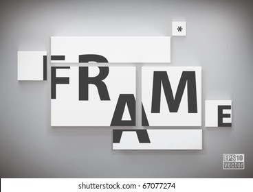 frame on wall for your text and images, eps10 vector