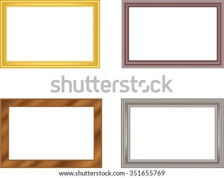 Frame Pattern Metal Gold Metal Silver Stock Vector (Royalty Free ...