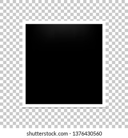 Frame photo realistic blank isolated background. Vector illustration