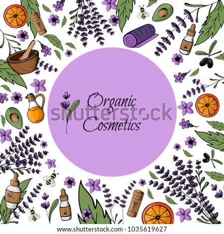 Frame Postcard Mockup Natural Organic Bio Stock Vector Royalty Free