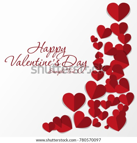 Frame Red Hearts On Valentine S Stock Vector (Royalty Free ...