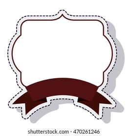 frame ribbon isolated icon vector illustration design
