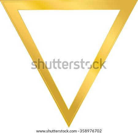 Frame Shape Triangle Metal Gold One Stock Vector (Royalty Free ...