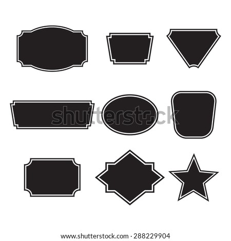 Frame Shapes Vector Illustration Stock Vector (Royalty Free ...