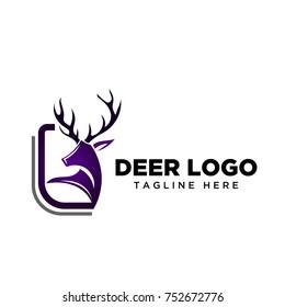 frame square deer logo