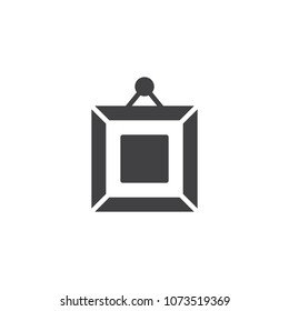 Frame square picture on wall vector icon. filled flat sign for mobile concept and web design. Art gallery picture simple solid icon. Symbol, logo illustration. Pixel perfect vector graphics