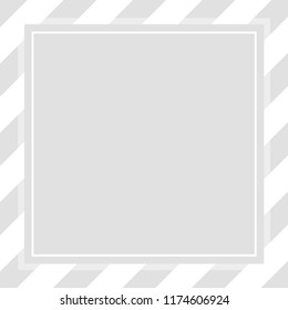 frame square template grey pastel soft color banner for cosmetics background, graphic frame grey pastel for advertising promotion special sale discount on media social online products (vector)