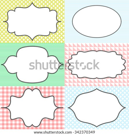 Frame Sticker Label Tags Card Template Stock Vector (Royalty Free ...