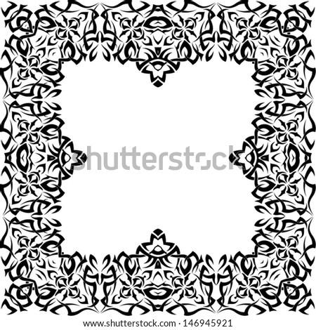 frame tattoo designs on frame tattoo design stock vector royalty free 146945921 shutterstock