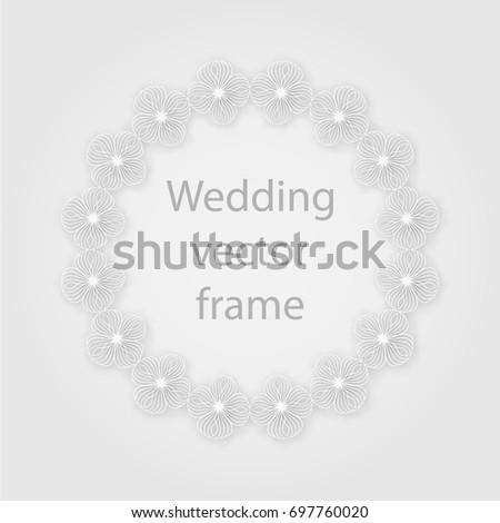 Frame Template Laser Plotter Cutting Photo Frames Stock Vector ...