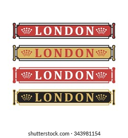 frame template of london. logo vector.