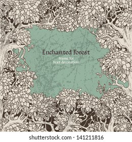 Frame for text decoration dark Enchanted Forest