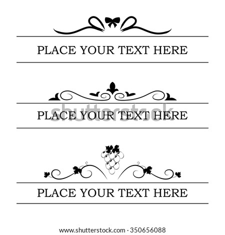 Frame Text Decoration Layout Text Stock Vector (Royalty Free