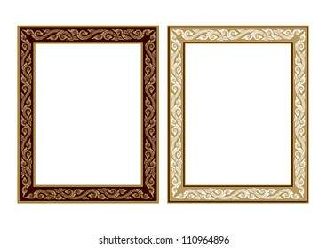 Frame of Thai ancient art in vector format