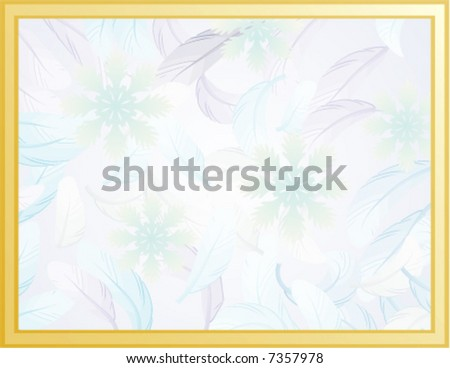 Frame That Looks Like Window Cold Stock Vector Royalty Free