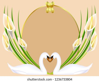 Frame Wedding Calla lilies flowers