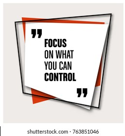 Framed Quote on Geometric Background - Focus on what you can control