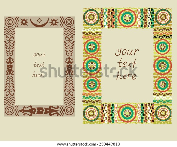 Frames with African ornament