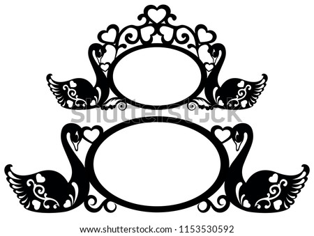 Frames Laser Cutting Frames Stock Vector (Royalty Free) 1153530592 ...