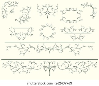 Frames and ornaments from leafs.