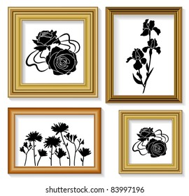 The frames for picture with floral ornaments