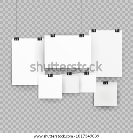 frames poster templates isolated on transparent stock vector