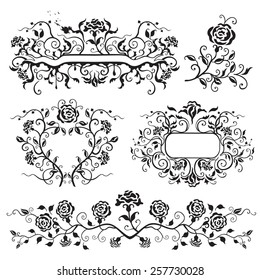 Frames with roses vector