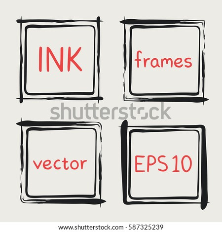 Frames Whimsical Swashes Elements Baby Shower Stock Vector Royalty