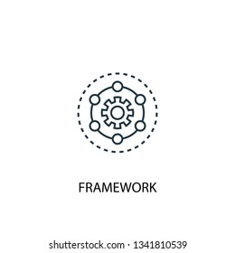 Framework concept line icon. Simple element illustration. Framework concept outline symbol design. Can be used for web and mobile UI/UX