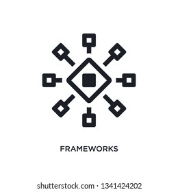 frameworks isolated icon. simple element illustration from technology concept icons. frameworks editable logo sign symbol design on white background. can be use for web and mobile