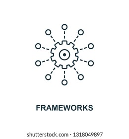 Frameworks outline icon. Thin line style from big data icons collection. Pixel perfect simple element frameworks icon for web design, apps, software, print usage