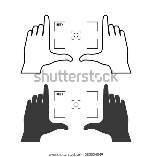 Framing Hands Base Composition Frame Made Stock Vector