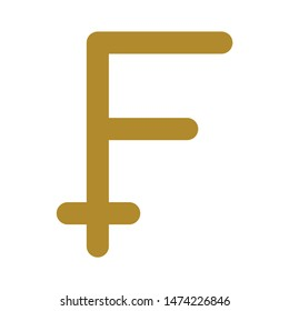 franc symbol icon. flat illustration of franc symbol vector icon. franc symbol sign symbol