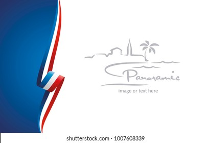 France abstract brochure cover poster background vector
