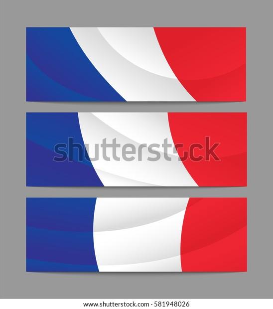 France banner, flag