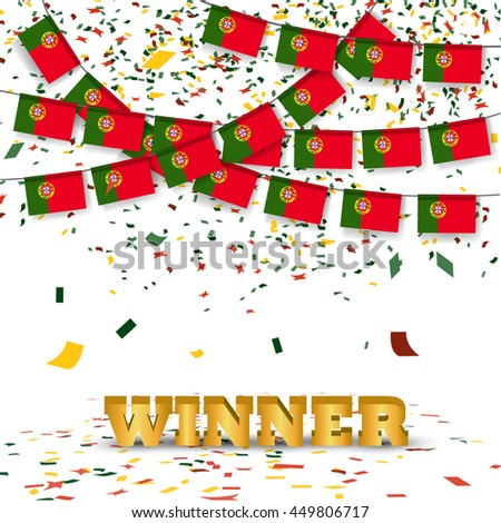 france bunting flag winner wording confetti stock vector royalty