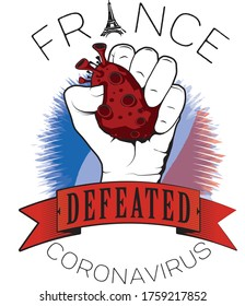 france europe defeated coronavirus vector cool image printable color flag