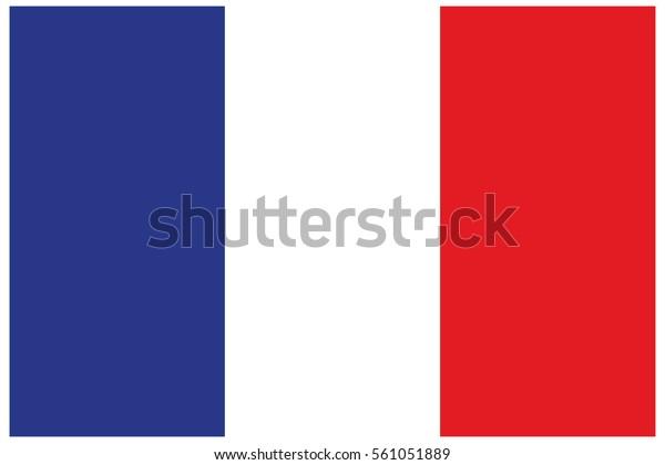 Vector De Stock Libre De Regalías Sobre Bandera De Francia
