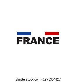 France flag logo design vector template