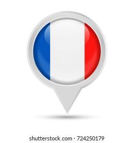 France Flag Pin Redondo