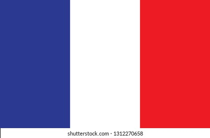 France flag. Simple vector France flag